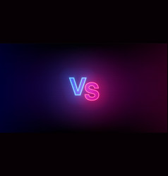 blue red hologram vs glowing monogram on dark vector image