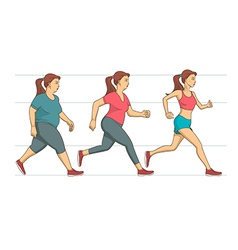 Body weight loss vector image