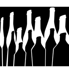Bottles Background green black vector image