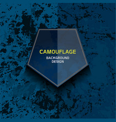 Camouflage dark blue background vector