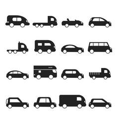 car silhouettes icon type transport minivan vector image