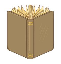 cartoon - brown hardcover book vector image