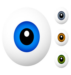 cartoon eyes isolated on white cartoon eyes in 4 vector image