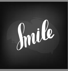 chalkboard blackboard lettering smile handwritten vector image
