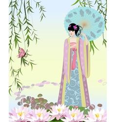 China girl2 vector image