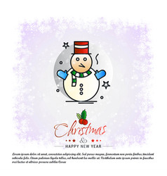 christmas card with creative design vector image