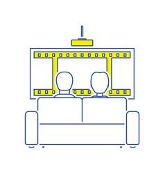 Cinema sofa icon vector