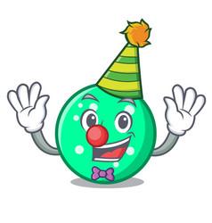 clown circle mascot cartoon style vector image