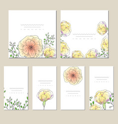 collection of template label visit cards vector image