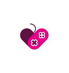 Console love logo icon design vector