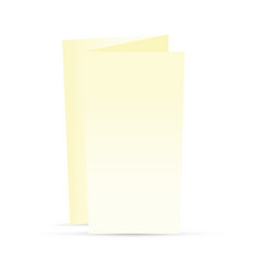 Cream trifold leaflet vector