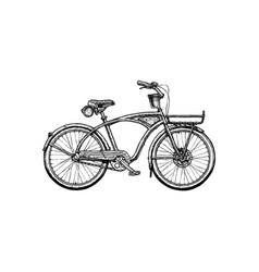 Cruiser bicycle vector