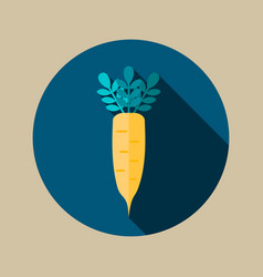 Daikon flat icon vegetable root vector