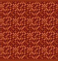 Dark brown seamless abstract square pattern vector