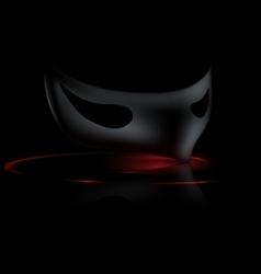 dark half mask vector image