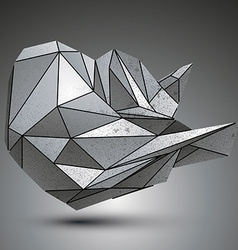 Deformed sharp metallic object created from vector