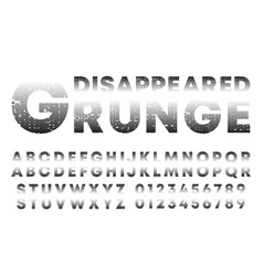 Disappeared design alphabet template letters and vector