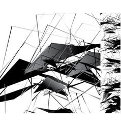 Edgy monochrome with geometric shapes abstract vector