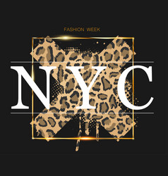 fashion week in new york on background vector image