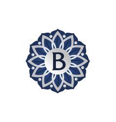 Flower elegant icon initial b vector