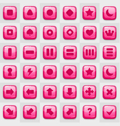 Game match icon square shape set in different vector