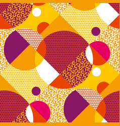 geometric shapes hand drawn pattern vector image