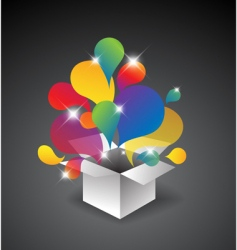 gift box of balloons vector image