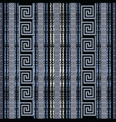 grunge chalk striped greek seamless pattern vector image