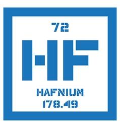 Hafnium chemical element vector image