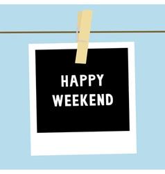 Happy weekend3 vector image