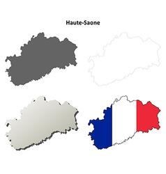 Haute-Saone Franche-Comte outline map set vector