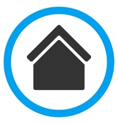 Home Flat Rounded Icon vector