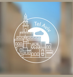 jaffa portr - the symbol of tel aviv israel vector image