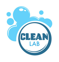 Laundry room clean club foam and bubbles detergent vector