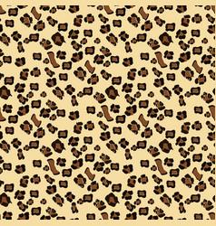 Leopard seamless pattern design background vector