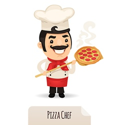 Male pizza chef vector