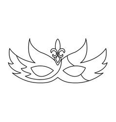 Mardi gras glitter mask with fleur-de-lis carnival vector
