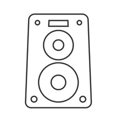 Music speaker thin line icon vector image