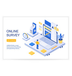 online survey checklist questions vector image