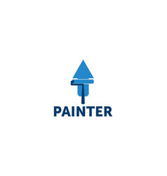 painter logo vector image