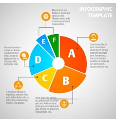 Pie chart meeting infographic vector image