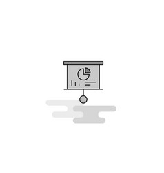 presentation board web icon flat line filled gray vector image