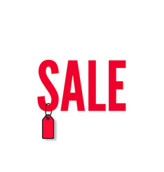 red word sale vector image