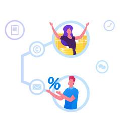 Referral program affiliate marketing online vector