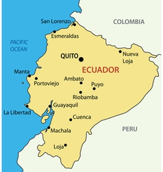 Republic of Ecuador - map vector image