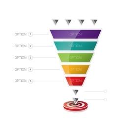 Sales funnel vector
