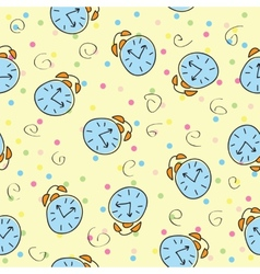 seamless pattern with the color clock vector image
