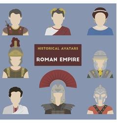 Set historical avatars vector