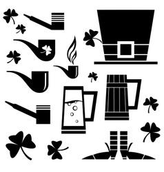 set of Irish holiday vector image
