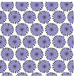 silhouette flowers repeat patterns pattern vector image